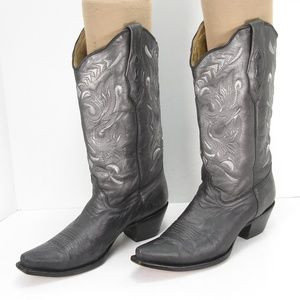 CORRAL A1175 METALLIC PEWTER COWBOY BOOTS 10 M